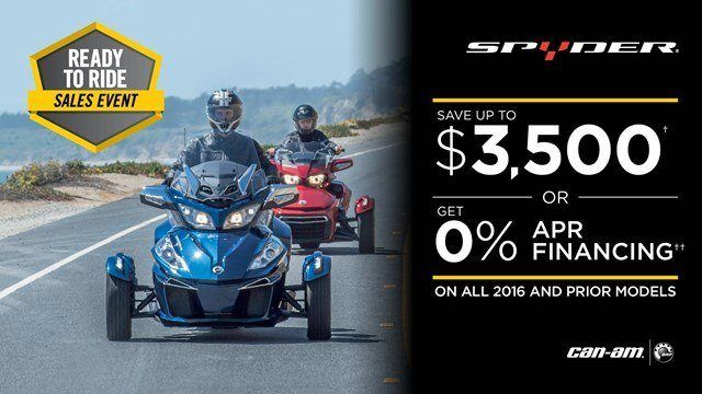 Can-Am Spyder Ready to Ride Sales Event